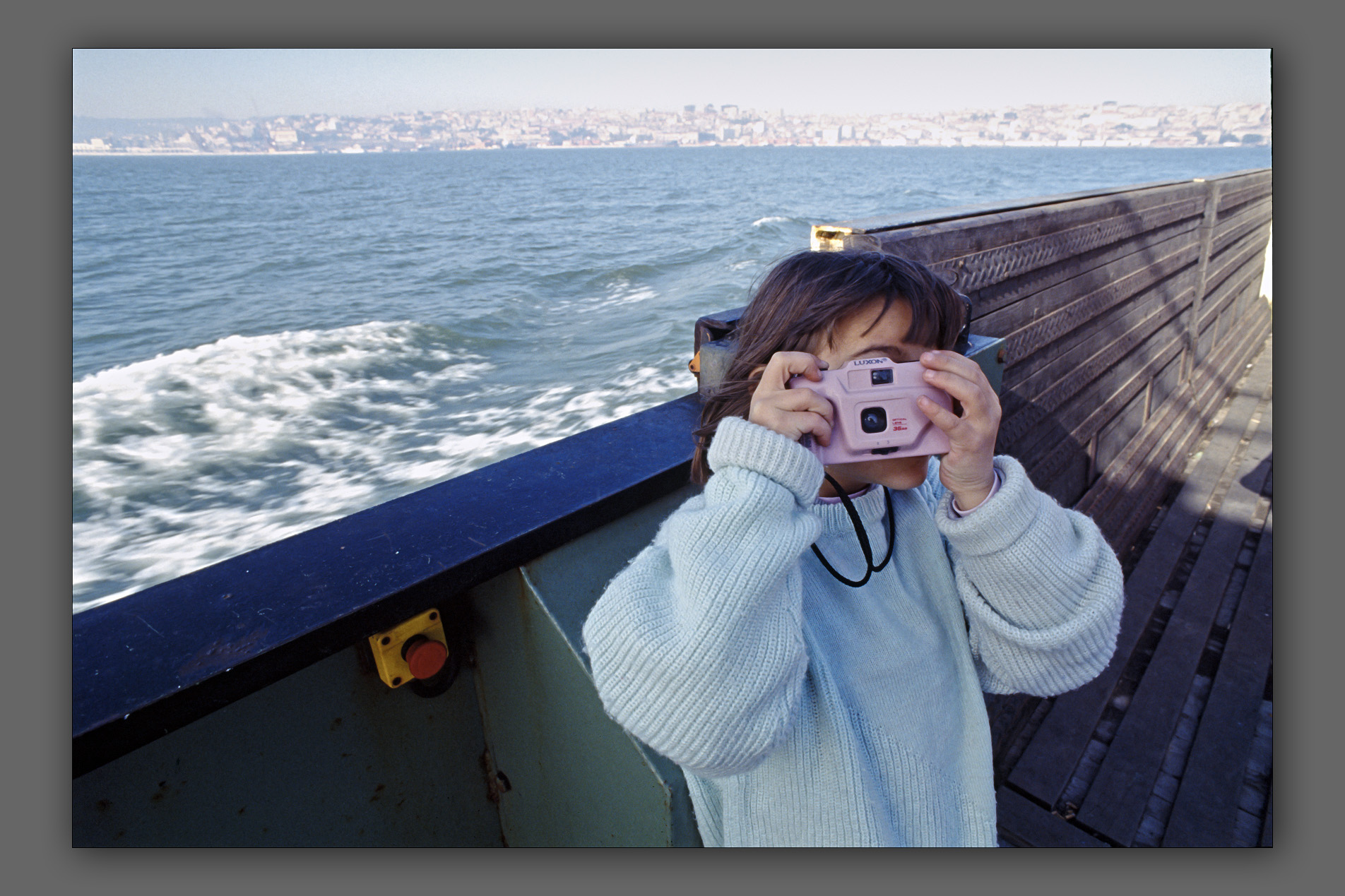 Clara with the pink camera
